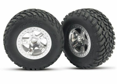 Rengas vanteella SCT/SCT 4WD/2WD taakse (2kpl) (5873)