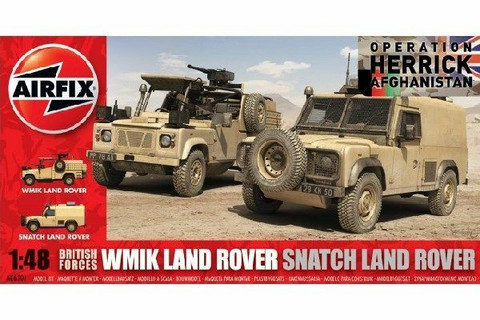 Airfix British Forces Land Rover WMIK/Snatch Land Rover 1/48