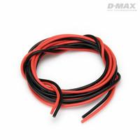 Sähköjohto silikoni AWG 20 (0,5mm2) punainen ja musta 1+1 m