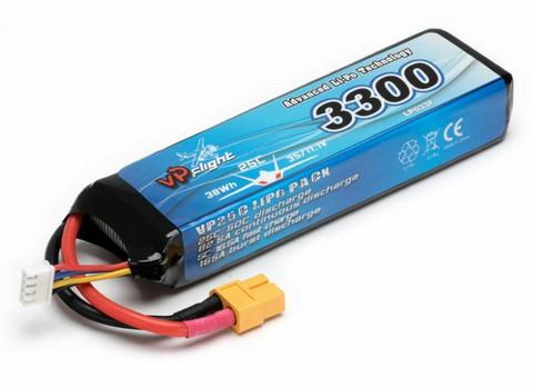 LiPo 3300mAh 3S 11,1V 25C (XT60) (LP033FXT)