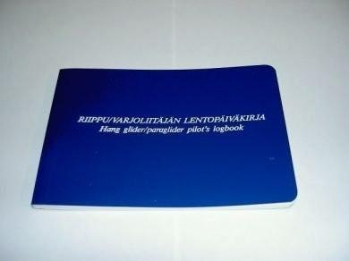 Riippu- ja varjoliitäjän lentopäiväkirja