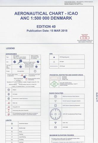 Tanska, 28.3.2019, VFR-ilmailukartta 1:500.000
