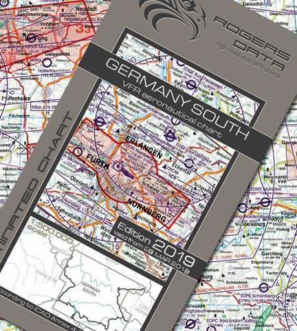 Germany South, 20.6.2019, VFR-ilmailukartta 1:500.000