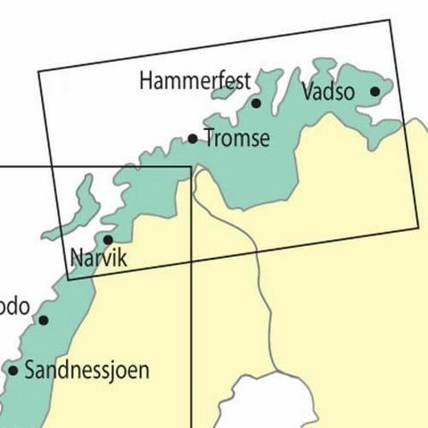 Northern Norway, 28.3.2019, VFR-ilmailukartta 1:500.000