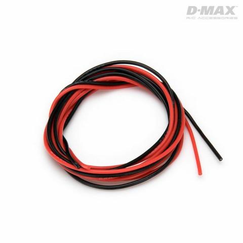 Sähköjohto silikoni AWG 24 (0,25mm2) punainen ja musta 1 + 1 m