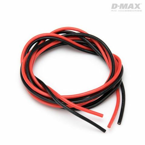 Sähköjohto silikoni AWG 18 (0,75mm2) punainen ja musta 1 + 1 m