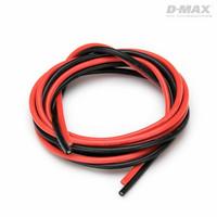 Sähköjohto silikoni AWG 16 (1,5mm2) punainen ja musta 1 + 1 m