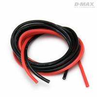 Sähköjohto silikoni AWG 14 (2,5mm2) punainen ja musta 1 + 1 m