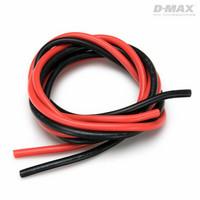 Sähköjohto silikoni AWG 12 (4,0mm2) punainen ja musta 1 + 1 m