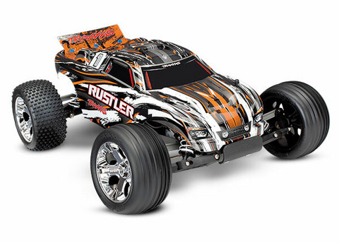 Rustler 2WD 1/10 RTR TQ Oranssi - With Batt/Charger (37054-1OR)