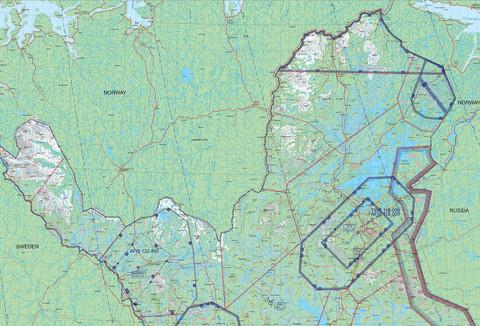 Ivalo, 22 APR 2021, VFR-ilmailukartta