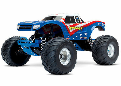 BIGFOOT Monster Truck 2WD 1:10 RTR TQ Sini-puna-valkoinen (36084-1RWB)
