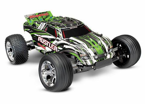 Rustler 2WD 1/10 RTR TQ Vihreä - With Batt/Charger (37054-1GRN)