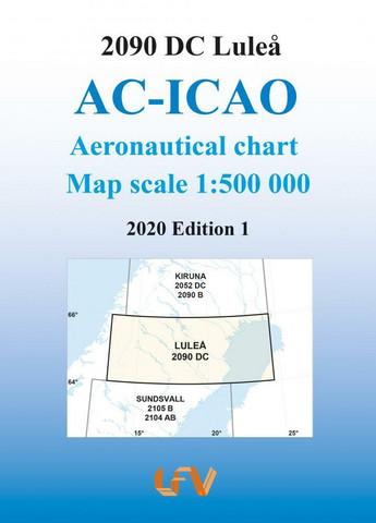 Luleå, 26.3.2020, VFR-ilmailukartta (2090DC)