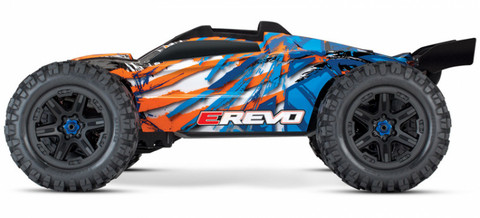 E-REVO Brushless 4WD TQi TSM Oranssi (ei sis. laturia/akkua) (86086-4ORN)