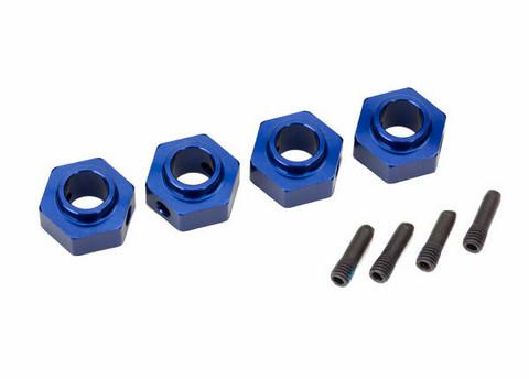 Wheel Hubs 12mm Hex Alu Blue (4) TRX-4