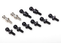 LaTrax Pivot Balls, Black (6), long (2), Silver (2) (7540X)