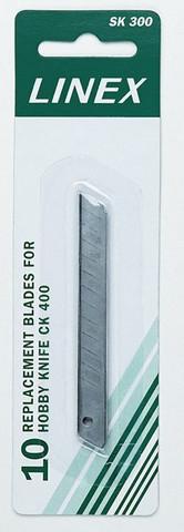 Katkoteräveitsi varaterät 9 mm, 10 kpl (SK300)
