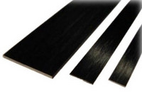 Hiilikuitulatta 2,0 × 12,0 mm (1 m)