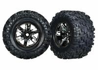 Tires & Wheels Maxx AT/X-Maxx Black Chrome (2) (7772A)