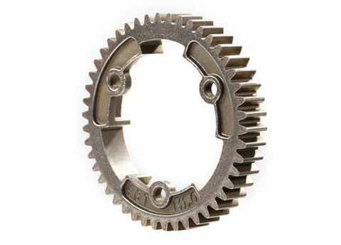 Spur Gear 46-Tooth Steel Wide 1.0 Metric Pitch (6447R)