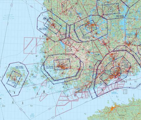 Helsinki West, 22 APR 2021, VFR-ilmailukartta