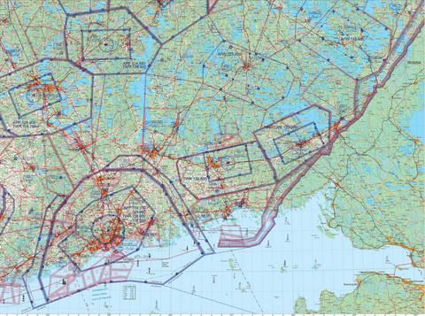 Helsinki East, 22 APR 2021, VFR-ilmailukartta