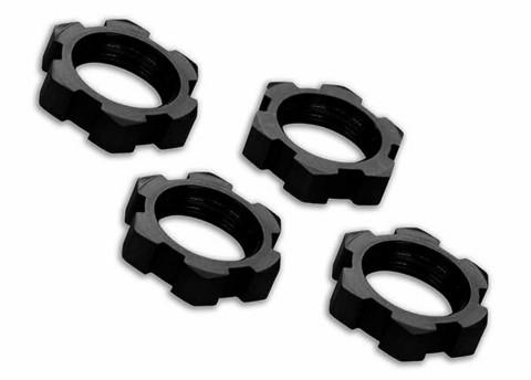 Wheel Nuts Splined 17mm Alu Black (4) E-Revo, X-Maxx (7758A)