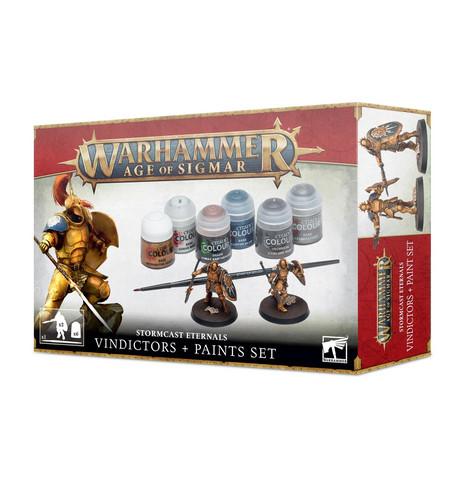 Stormcast Eternals Vindictors + Paints set (60-10)