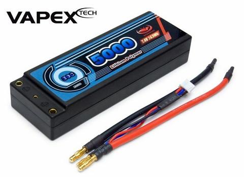 LiPo 5000mAh 2S 7,4V 30C Hardcase (ei liitintä) (RD500)