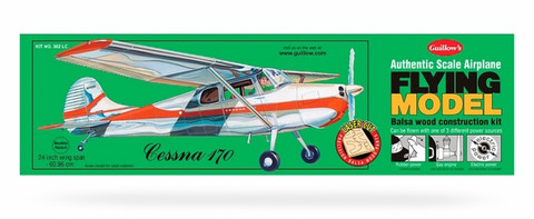 Cessna 170 kumimoottorilennokki, rakennussarja, laser leikattu