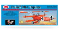 Fokker DR1 Triplane kumimoottorilennokki, rakennussarja, laser leikattu