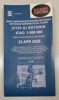 Estonia/Viro, 23.4.2020, VFR-ilmailukartta 1:500.000 (2153A)