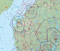 Vaasa, 22 APR 2021, VFR-ilmailukartta