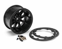 Rengas ja pyörä ST-ROCKET 1/10 Black Beadlock (0) Soft MFT