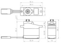 Servo 2,2 kg 0,09 s Alu Micro (SH-0253)