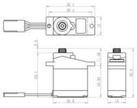 Servo 3,9 kg 0,13 s Alu Metal Gear Micro (SH-0255MG)