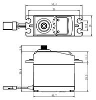 Servo 10,5 kg 0,19 s MG digitaalinen standard (SC-0252MG)