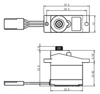 Servo 2,2Kg 0,09s Alu Metal Gear Micro (SH-0257MG)