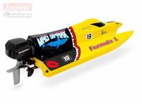 Mad Shark F1 Boat 2.4G RTR, keltainen