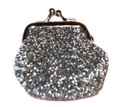 Hohto hopean värinen minikukkaro