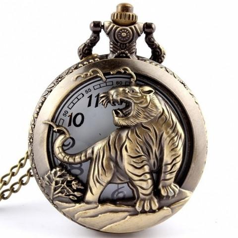 Bronze Tiger taskukello
