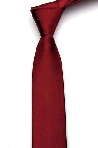 Miesten kapea solmio, wine red