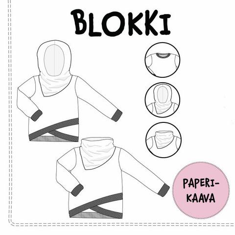 Paperikaava, Blokki pusero 92-158 cm