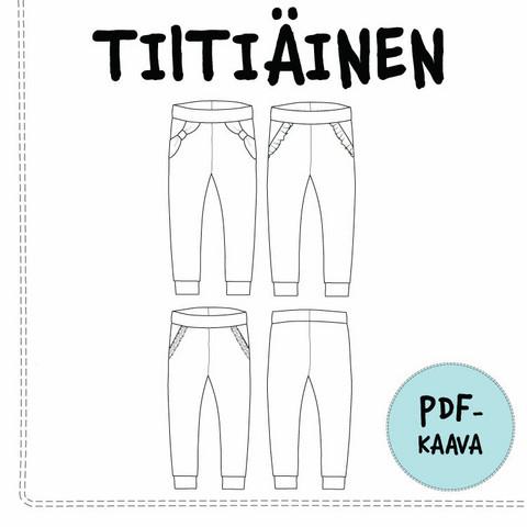 PDF-kaava, Tiitiäinen housut 92-134 cm