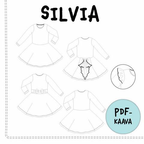 PDF-kaava, Silvia mekko 92-140 cm
