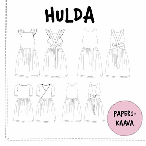 Paperikaava, Hulda mekko 92-140cm