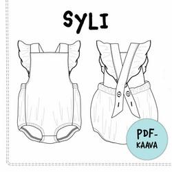 PDF-kaava, Syli romper, 50-104 cm