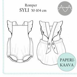 Paperikaava, Syli romper, 50-104 cm