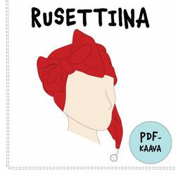 PDF-kaava, Rusettiina rusettitonttulakki 41-58 cm